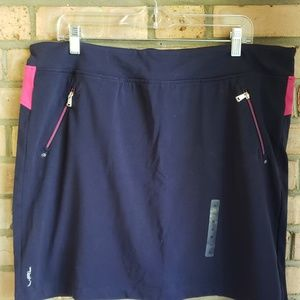 New Ralph Lauren XL Navy Hot Pink Skorts stretchy